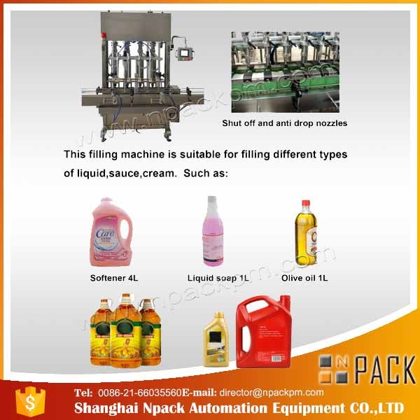 دستگاه پرکن روغن مخصوص روغن پخت و پز 2 ، 4 ، 6 ، 8 ، 10 ، 12 اتوماتیک