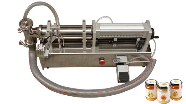 دستگاه پرکننده عسلی با چگالی بالا نیمه اتوماتیک
