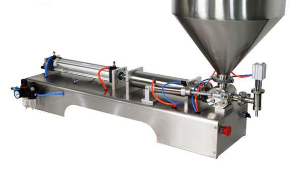 100-1000ml دستگاه پرکن نیمه خامه ای نیمه اتوماتیک